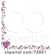 Royalty Free RF Clipart Illustration Of A White Background With A Wedding Bells Border by Pams Clipart