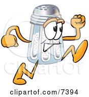 Salt Shaker Mascot Cartoon Character Running