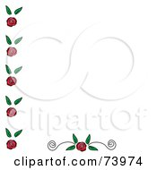 Royalty Free RF Clipart Illustration Of A Rose Edge And Bottom Scoll Design Element On White by Pams Clipart