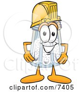 Clipart Picture Of A Salt Shaker Mascot Cartoon Character Wearing A Helmet by Toons4Biz