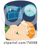 Royalty Free RF Clipart Illustration Of A Pleasant Boy Sleeping In His Bed