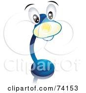 Cute Blue Desk Lamp Character Shining