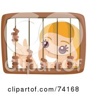 Royalty Free RF Clipart Illustration Of A Little Girl Playing With A Wooden Abacus