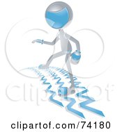 Royalty Free RF Clipart Illustration Of A Future Man Surfing The Web by BNP Design Studio
