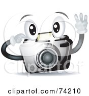 Royalty Free RF Clipart Illustration Of A Friendly Camera Character Snapping A Picture by BNP Design Studio