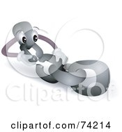 Royalty Free RF Clipart Illustration Of A Chain Link Character Linking Itself