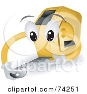 Royalty Free RF Clipart Illustration Of A Tape Measure Character Measuring