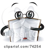 Royalty Free RF Clipart Illustration Of A Smart Book Character Turning Pages