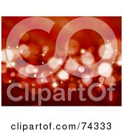 Royalty Free RF Clipart Illustration Of A Red Christmas Background Of Sparkly Lights