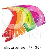 Royalty Free RF Clipart Illustration Of A Colorful Sale Burst Over White