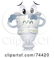 Royalty Free RF Clipart Illustration Of A Toilet Character With Gross Green Slime by BNP Design Studio