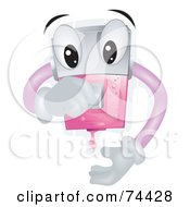 Royalty Free RF Clipart Illustration Of A Liquid Soap Dispenser Character Squirting Gel by BNP Design Studio
