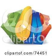 Royalty Free RF Clipart Illustration Of A 3d Home Word Growing Outwards