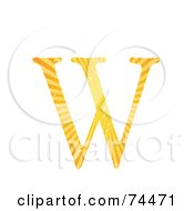 Royalty Free RF Clipart Illustration Of A Sunny Capital Letter W by mheld