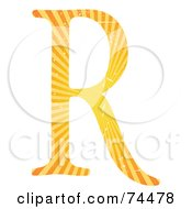 Royalty Free RF Clipart Illustration Of A Sunny Capital Letter R by mheld