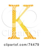Royalty Free RF Clipart Illustration Of A Sunny Capital Letter K by mheld