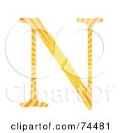 Royalty Free RF Clipart Illustration Of A Sunny Capital Letter N by mheld