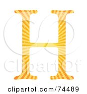 Royalty Free RF Clipart Illustration Of A Sunny Capital Letter H by mheld