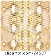 Royalty Free RF Clipart Illustration Of A Brown Python Snake Skin Pattern Background by Monica