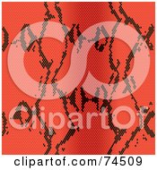 Royalty Free RF Clipart Illustration Of A Red Python Snake Skin Pattern Background