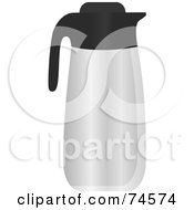 Royalty Free RF Clipart Illustration Of A Stainless Steel Thermos