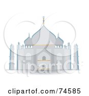 Royalty Free RF Clipart Illustration Of The Taj Mahal Mausoleum In Gray And Blue