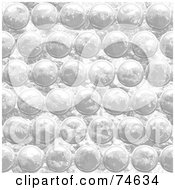 Royalty Free RF Clipart Illustration Of A Seamless Bubble Wrap Textured Background by Arena Creative