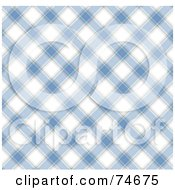 Royalty Free RF Clipart Illustration Of A Blue And White Diagonal Plaid Background by MacX