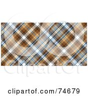 Royalty Free RF Clipart Illustration Of A Blue And Brown Diagonal Plaid Background by MacX