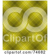Royalty Free RF Clipart Illustration Of A Yellow Diagonal Plaid Background by MacX