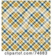 Royalty Free RF Clipart Illustration Of A Blue Orange And White Diagonal Plaid Background by MacX