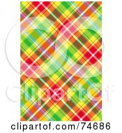 Royalty Free RF Clipart Illustration Of A Colorful Diagonal Plaid Background by MacX