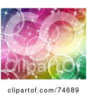 Royalty Free RF Clipart Illustration Of A Background Of Colorful Sparkly Glittering Lights Version 1 by MacX