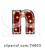 Royalty Free RF Clipart Illustration Of A Starry Symbol Lowercase Letter N by chrisroll