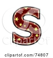 Royalty Free RF Clipart Illustration Of A Starry Symbol Capital Letter S by chrisroll