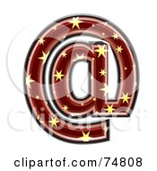 Royalty Free RF Clipart Illustration Of A Starry Symbol Arobase by chrisroll