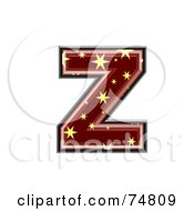 Royalty Free RF Clipart Illustration Of A Starry Symbol Lowercase Letter Z by chrisroll