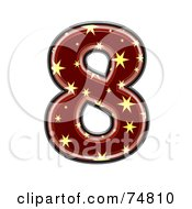 Royalty Free RF Clipart Illustration Of A Starry Symbol Number 8 by chrisroll
