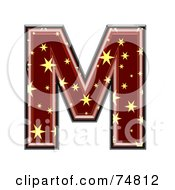 Royalty Free RF Clipart Illustration Of A Starry Symbol Capital Letter M by chrisroll