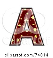 Royalty Free RF Clipart Illustration Of A Starry Symbol Capital Letter A by chrisroll