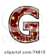 Royalty Free RF Clipart Illustration Of A Starry Symbol Capital Letter G by chrisroll