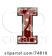 Royalty Free RF Clipart Illustration Of A Starry Symbol Capital Letter I by chrisroll