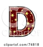 Royalty Free RF Clipart Illustration Of A Starry Symbol Capital Letter D by chrisroll