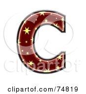 Starry Symbol Capital Letter C