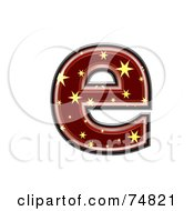 Royalty Free RF Clipart Illustration Of A Starry Symbol Lowercase Letter E by chrisroll