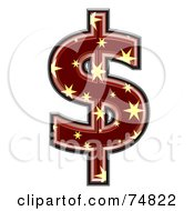 Royalty Free RF Clipart Illustration Of A Starry Symbol Dollar by chrisroll