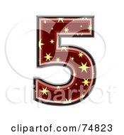 Royalty Free RF Clipart Illustration Of A Starry Symbol Number 5 by chrisroll
