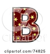 Royalty Free RF Clipart Illustration Of A Starry Symbol Capital Letter B by chrisroll