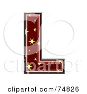 Royalty Free RF Clipart Illustration Of A Starry Symbol Capital Letter L by chrisroll