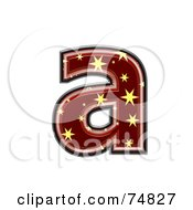 Royalty Free RF Clipart Illustration Of A Starry Symbol Lowercase Letter A by chrisroll